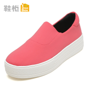 Shoebox shoe 2015 new Korean version of autumn casual women's shoes, Candy-colored set of feet thick flat canvas shoes