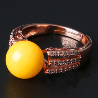 Precious Crystal chicken oil in the Baltic Sea the old wax ring ladies rose gold plated 925 Silver ring opening ring