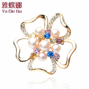 Mail ya na elegance Pearl flower brooch corsage boutique gift accessory pin YD002