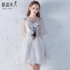 Bridesmaid dress female 2018 new long party party dress dress was thin short girl students summer