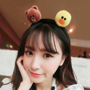 Open ornament cartoon rabbit headband Brown Xiong Keni winter Sally plush cute animal tail hoop sell MoE artifact