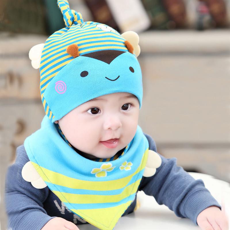 新生儿婴儿帽子秋款0-6月纯棉套头帽宝宝睡觉帽子卡通可爱包邮产品展示图3
