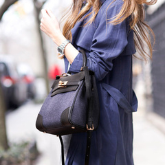 MICIE/beautiful new city fall denim handbag tidal handbag bag shoulder diagonal Kelly baodan