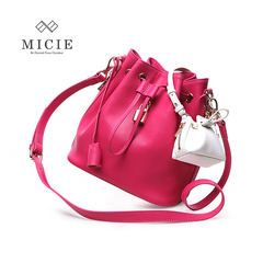 Hee Micie 2015 Europe MICIE/beauty ladies female leather DrawString shoulder bag diagonal picture pack
