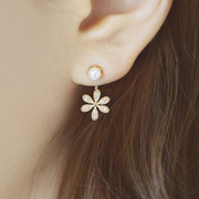 Korea spring/summer sweet 2015 chrysanthemums hung Stud Earrings women''s earrings earrings fashion jewelry accessories ladies temperament