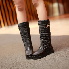 2015 new style winter boots with round sleeve boots shoes boots winter boots flat boots