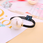 Know Connie hair accessories Korean Queen Pearl String rope end made by the Korean small fields breathe sweet hair rubber band jewelry