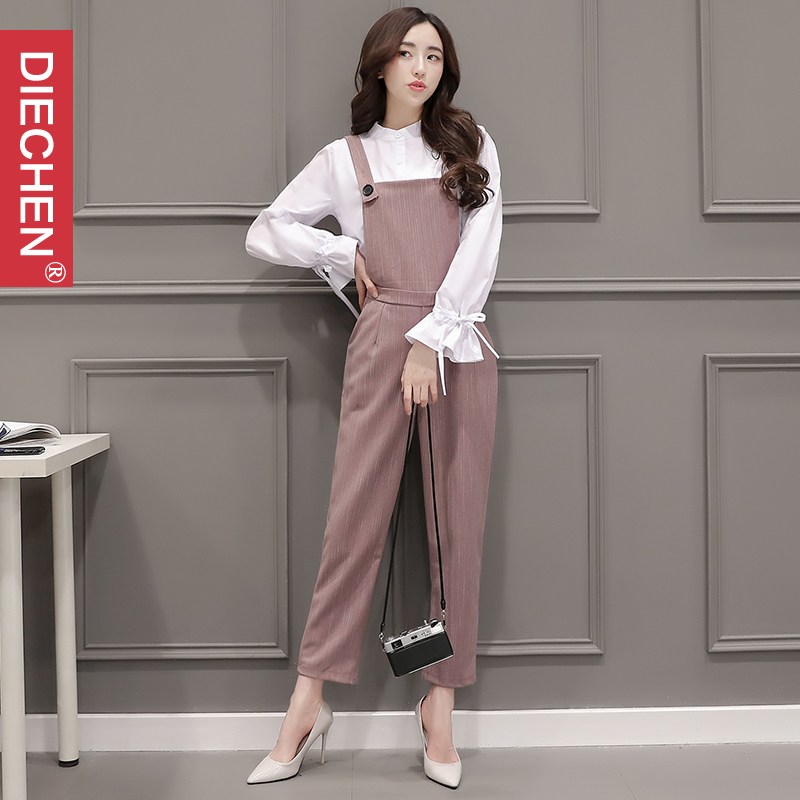 2017 new womenu0026#39;s spring tide suit female Korean fashion shirt pants two piece female leisure ...
