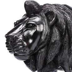 非洲狮子装饰品客厅书房样板房摆设黑檀木木雕高端定制礼品收藏品