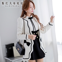 Wool coats women long coat in Pink's pre-2014 women's winter tide thick Han Fan doll coat