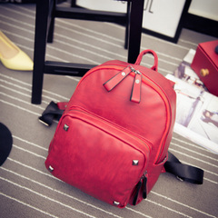 About handbags shoulder bags beauty Korean street fashion backpacks fall 2015 new rivet bag student bag bag women