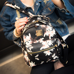 United States around 2015 autumn Korean printed women bags mini backpack snack bag k fashion show Academy wind bag