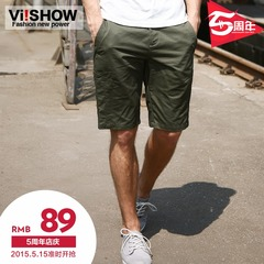 Viishow new summer shorts men's slim straight leg in Europe and America five pants casual pants trendy man