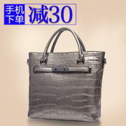Crocodile pattern leather handbag in question Europe, fall/winter fashion Lady bag 2015 new baodan shoulder bags