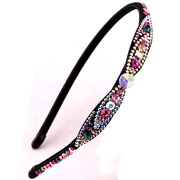 Haomei super soft bright bright imported fine black rhinestone headband with crystals headband hairpin