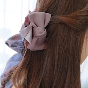 Know Connie hair accessories handmade satin ribbon bow grab clips to grab a solid color fabric Barrette headdress