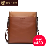 Honggu red Valley business-shoulder man bag 2015 counters the first layer of leather Small Crossbody 6327