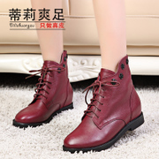 Tilly cool foot 2015 new suede cowhide short fashion boots for fall/winter recreation Joker rivet Martin boots and bare boots