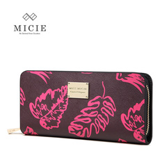 Micie original 2015 new ladies leather zip around wallet European fashion print clutch bag