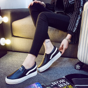 New platform increases by the end of 2015 winter PU Le Fu shoes, casual lazy student trends in leather women shoes