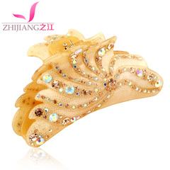 Barrette caught caught Korean King Chuck paw rhinestone ponytail holder vertical hairpin girls hair hair accessories