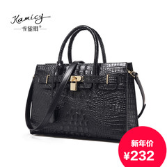Kamicy/Camilla Pucci autumn/winter new style handbag OL crocodile pattern leather women bag lady laptop Crossbody bag