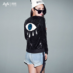 Spring of seven space space OTHERMIX2015 new eyes logo black baseball baseball shirts clothing jackets women