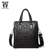 Wanlima/million 2015 new man bag vertical leather crocodile pattern bag Korean version of Messenger bag