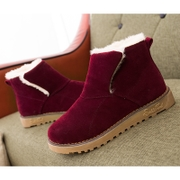 2015 fall/winter new style women boots snow boots with flat female Korean padded boots warm shoes and leisure shoes wave