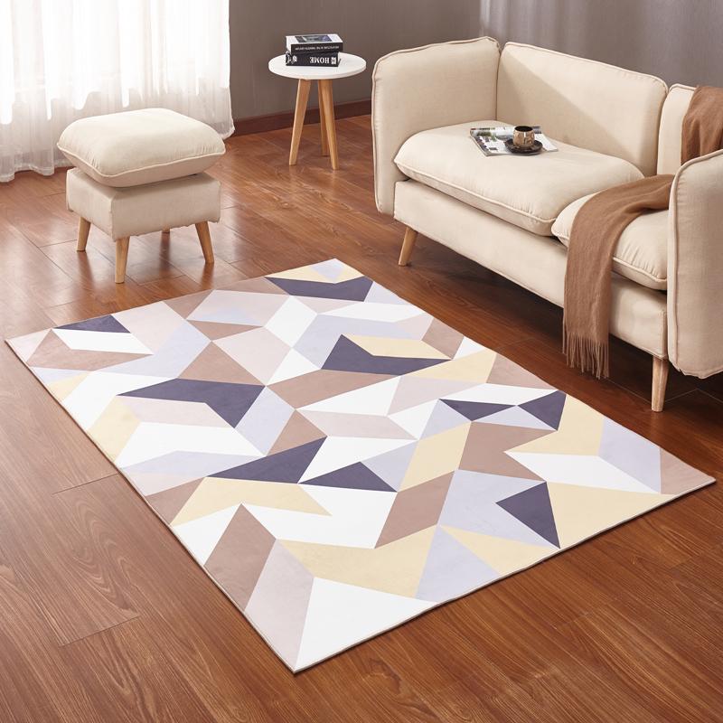 馨居现代简约宜家几何地毯客厅茶几沙发大地毯卧室样板间抽象地毯