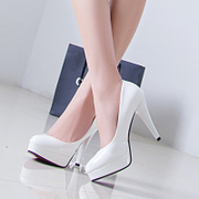 New 11CM ultra high heel women's shoes platform shoes white with female wedding shoes Club shoes t stage shoes