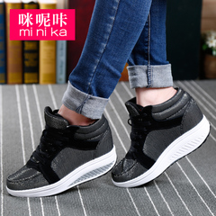 Microphone Ta spring 2016 Korean leisure high shoes platform rocking shoes women breathable shoes high women''s shoe