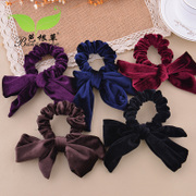 Bagen grass headdress rabbit flower corduroy Butterfly first rope ring Korea hair band hair ornament hairpin jewelry