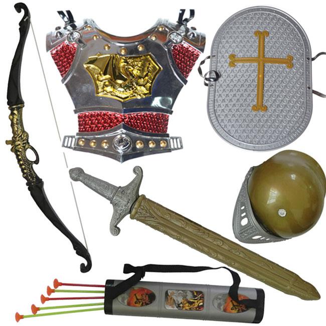 传统儿童弓箭玩具 男孩宝剑盾牌组合 吸盘式仿真射箭玩具特价