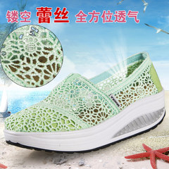 MI Ka new hollow shook his shoe with breathable mesh gauze shoes shoes high thick-soled platform shoes women boomers