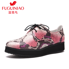 Rich bird spring 2016 spring thick-soled tie shoes designer shoes European shoes flats casual shoes