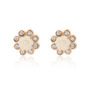 Love Korea jewelry Stud rhinestone earrings genuine temperament ladies small flower earrings are hypoallergenic ear acupuncture