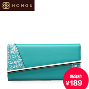 Honggu red Valley in 2015, new counters authentic ladies leather wallets 3808