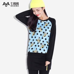 Seven space space OTHERMIX2015 banana print Turtleneck t no spring New Hat sweater women
