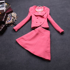 2014 early fall the new Europe and the small fields breathe sweet temperament slim coats, two-piece suits autumn long sleeve dress #