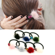Know Nicole mink hair ropes, Japan and Korea rhinestones crystals fireball into the ring ropes rubber band tiara hair accessories