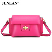Chun LAN simple mini authentic handbags fall/winter new baodan shoulder bag small red casual slung leather handbag