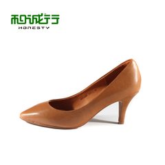 He Chenghang and fall 2015 working Office ladies high heels shoes Sheepskin women shoes 0010498