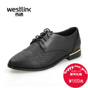 West little white shoes of England women's shoes-fall 2015 new fashion Oxford Shoes flats casual shoes deep hollow