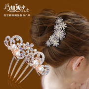 Korea tiara comb hair comb Bridal Accessories hair clip hair into comb insert made by u-shaped hairpins hair accessory package mail