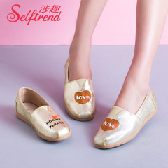 Trend of the interest in question fall 2015 the Korean version of light three women casual shoes shoes shoes lazy people pedal T03621