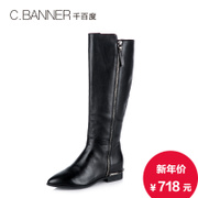 C.BANNER/banner 2015 winter leather straightforward tough European wind pointed boots women's boots A5514430