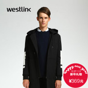 Westlink/West New 2015 winter surge in simple black and White Hooded long bi-fold wallets thicken men's jacket