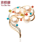 Ya-na Pearl brooches of diamond crystal brooch Korea pin brooch fashion jewelry Y076