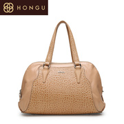 Honggu red Valley women's Shoppe of genuine European fashion casual elephant embossed shoulder bag 1767
